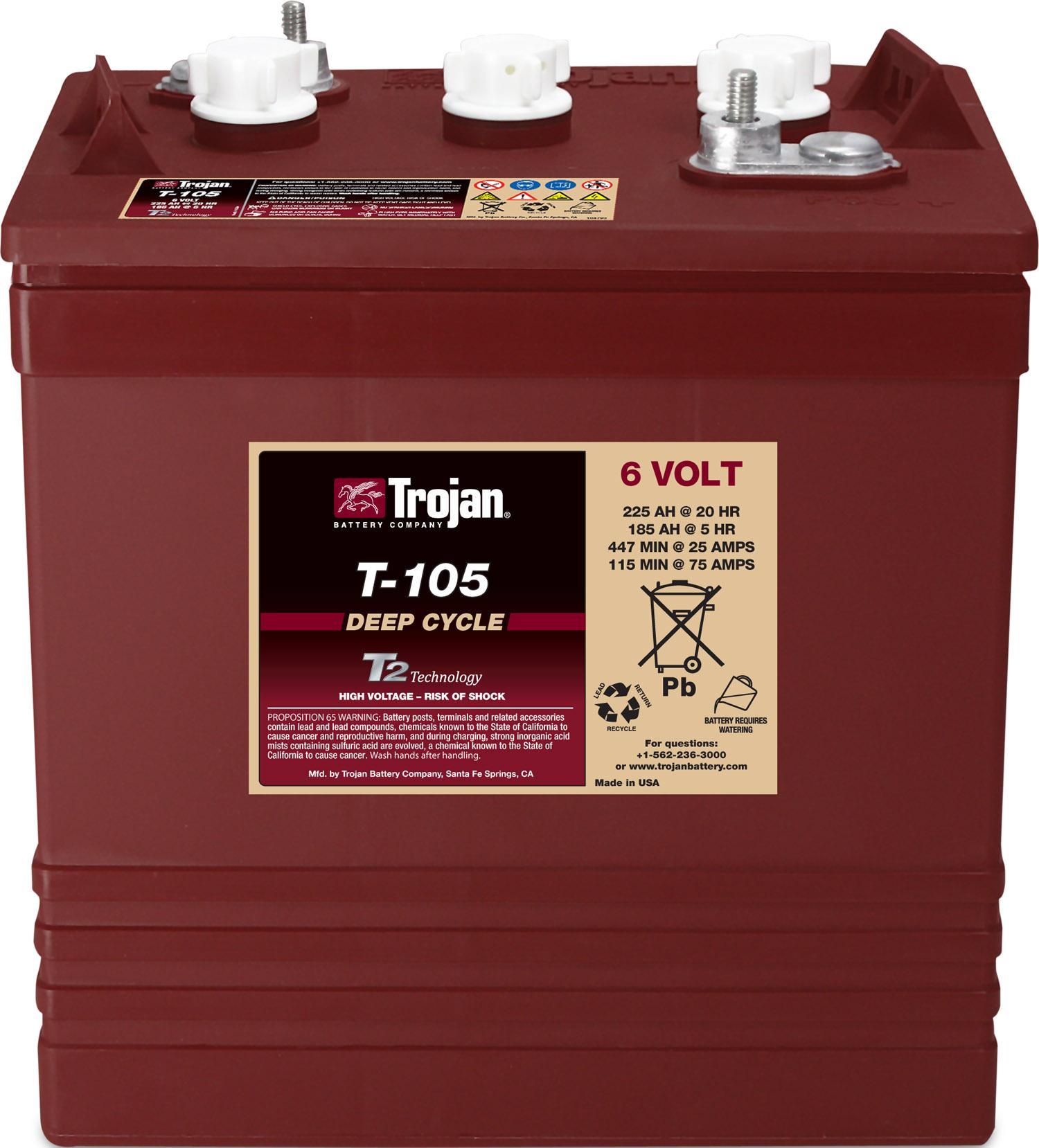 Trojan T105 6V Battery