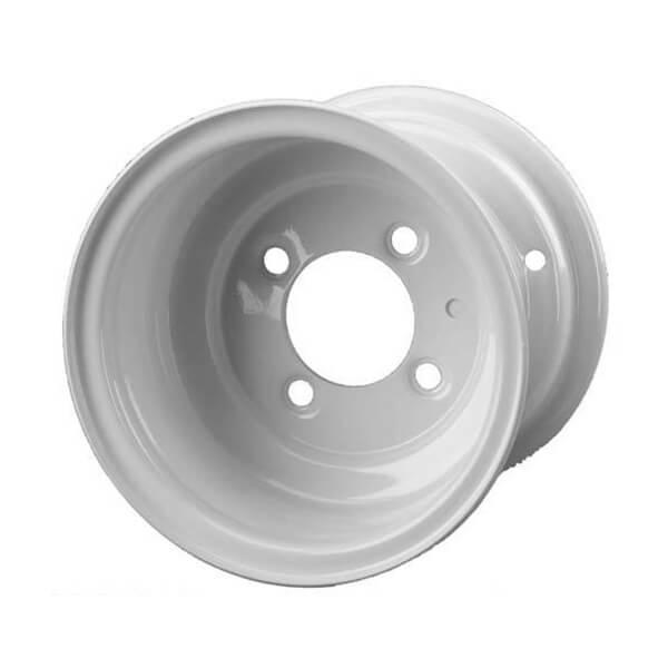 White. Steel Wheel with Beadlock Design 8in