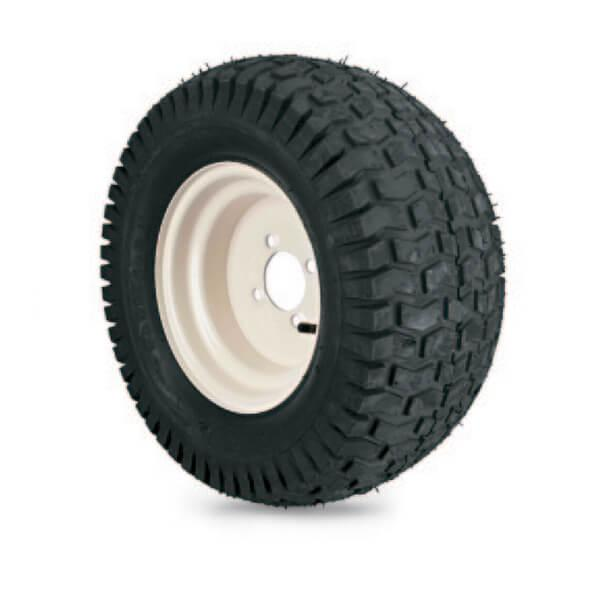 4-ply Turf Saver - White Steel Wheel Assembly