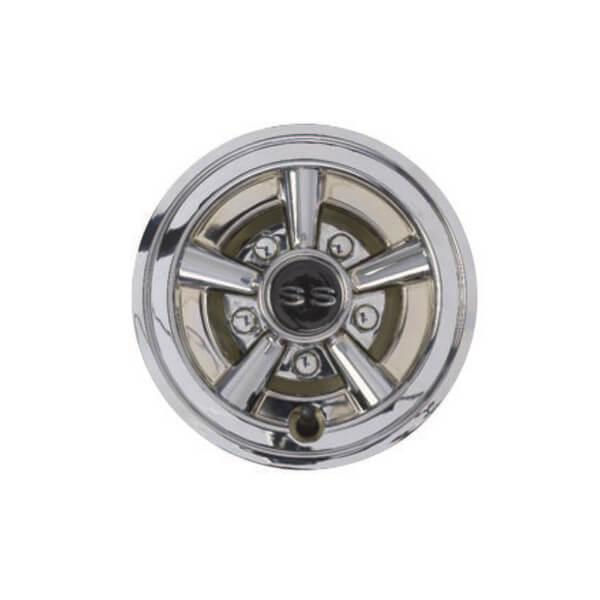 Chrome Painted Wheel Cover 8in